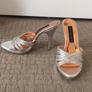 Silver Steve Madden Sandals